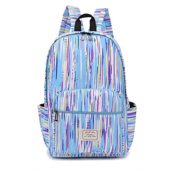 2016Fashion Fresh Lace Denim Women's Canvas Backpack School bag For Girl Ladies Teenagers Casual Travel bags Schoolbag Bagpack