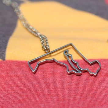 Outline State of Maryland / Necklace