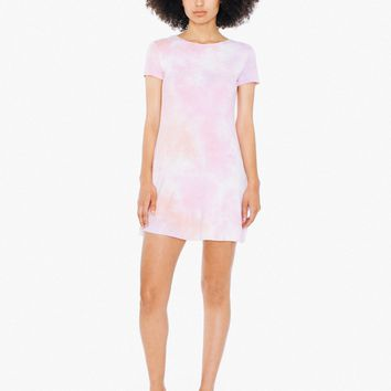 Tie-Dye Viscose T-Shirt Dress | American Apparel
