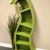 Handmade 6FT curved bookshelf