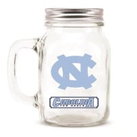 North Carolina Tar Heels NCAA Mason Jar Glass With Lid