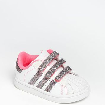 Toddler Girl's adidas 'Sparkle Superstar 2' Sneaker