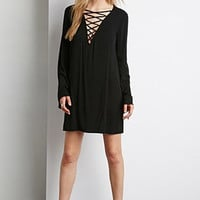 Crisscross Front Shift Dress