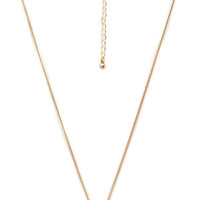 FOREVER 21 Bar Charm Necklace Gold One