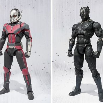 Avengers Ant-Man & Black Panther Movable Action Figures