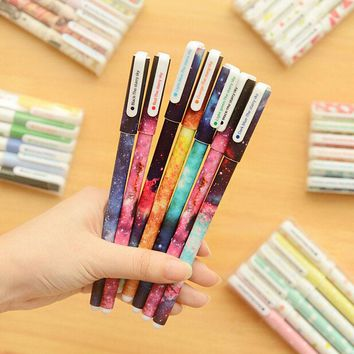 M23 6pcs/lot Cute Floral Garden Gel Pen Kawaii Stationery Creative Gift School Supplies Student Gift Rewarding Prize 0.38mm