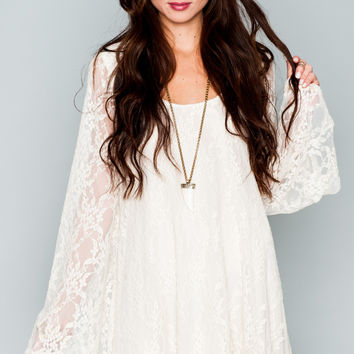 Show Me Your mumu Fannie Flow Dress ~ Flower Chain Lace Cream