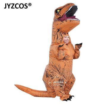 Cool JYZCOS Kids Inflatable costume Dinosaur Costume Dino cartoon characters fancy dress T-Rex Costume Blow Up animal mascots CosplayAT_93_12