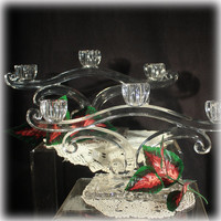 New Martinsville Glass, Glass candelabra, Elegant Glass, Double Candle Holders, Candlesticks