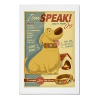 Dug - I can speak! - Muntz talking dog collar Print from Zazzle.com