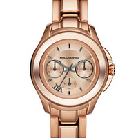 Karl Lagerfeld Karl 7 Klassic Rose Gold-Tone Chronograph Watch