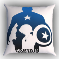 Captain America Avengers Texture Z0716 Zippered Pillows  Covers 16x16, 18x18, 20x20 Inches