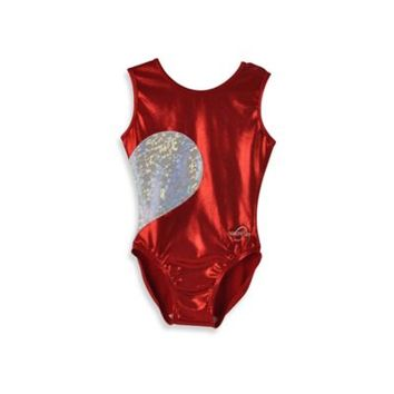 Obersee Kids Gymnastics Leotard in Red Heart