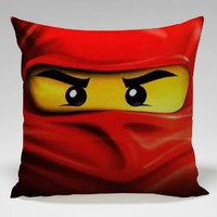 Red Ninjago Master of Spinjitzu Pillow Case (18x18 one side)
