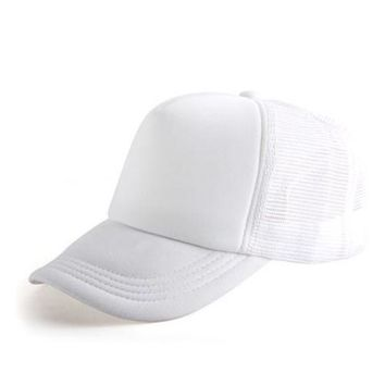 White 2017 New Hot 1x New Cute Unisex Classical Vintage DIY Basball Mesh Hat 11 Colors Truck Cap Beautiful