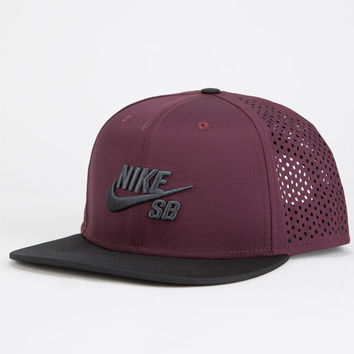 Nike Sb Performance Mens Trucker Hat Maroon One Size For Men 25059432301