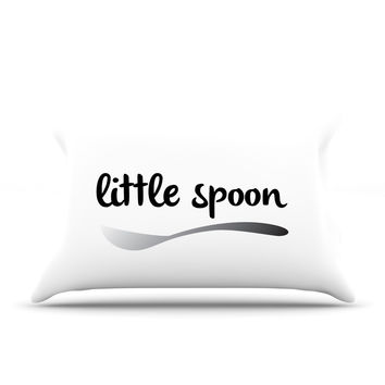 "KESS Original ""Little Spoon"" Couples Pillow Case"