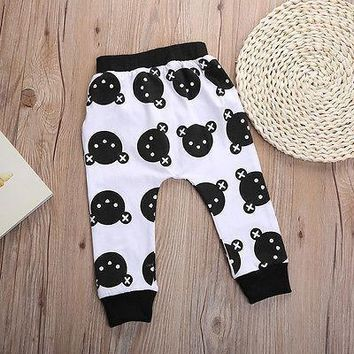 Hot Toddlers Kids Boy Girls Baggy Harem Pants Bottoms Bear Casual Baby Trosuers
