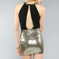 Wild Sequined Mini Dress