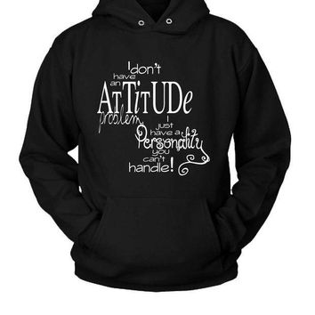 ICIK7H3 Attitude Quotes (3) Hoodie Two Sided