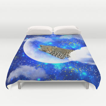Relax in The moon Duvet Cover by Haroulita