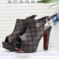 Louis Vuitton Gucci Women Fashion Casual Heels Shoes
