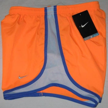 Nike Dri-Fit Tempo Running Shorts - Women's XS (Neon Orange/Blue) NWT