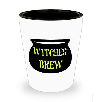 Witches' Brew Gothic Halloween Funny Shot Glass Gift For Her Party Favor Ceramic Home Decor
