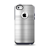 The Brushed Metal Surface Apple iPhone 5c Otterbox Commuter Case Skin Set