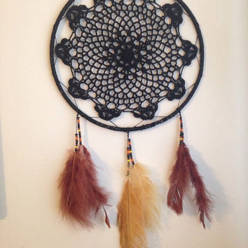 Black Doily Dream Catcher
