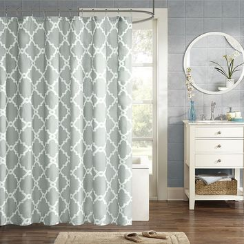 Madison Park Essentials Almaden Fabric Shower Curtain (Grey)