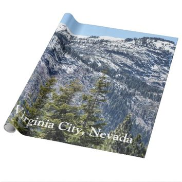 Virginia City Snow Mountains Wrapping Paper