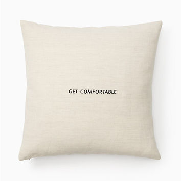 words of wisdom get comfortable pillow | Kate Spade New York