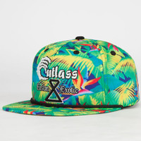 Cutlass City Tropics Mens Snapback Hat Green Combo One Size For Men 24367854901