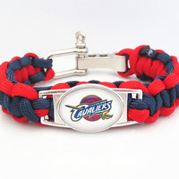 NBA Paracord Bracelet Cleveland Team Sport Fan Basketball Friendship Bracelets