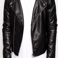 ASOS | ASOS Leather Look Biker Jacket at ASOS