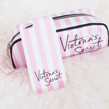 Victoria's  Makeup Bags and secret Fashion iPhone Phone Cover Case For iphone 6 6s 6plus 6s-plus 7 7plus