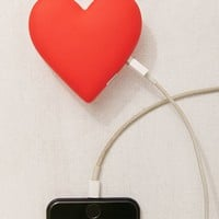 MojiPower Heart Portable Power Bank | Urban Outfitters