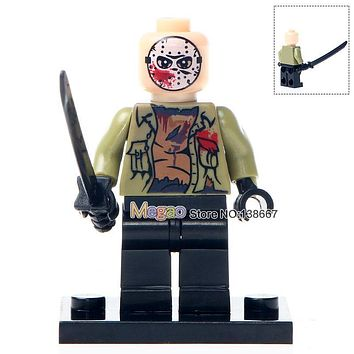 Singel Sale WM302 The Horror Theme Movie Hockey Mask Hunter - Black Friday Jason BuildingBlocks Bricks Action Children Gift Toys