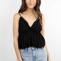 Annabelle Baby Doll Top in Black