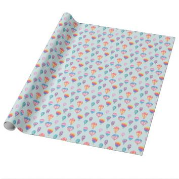Hot Air Balloon Pattern Wrapping Paper