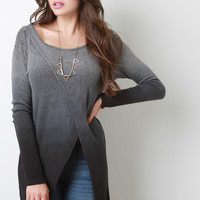 Ombre Knit Open Front Top