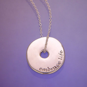 Embrace Life Sterling Silver