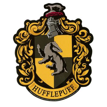 "Licensed cool NEW HARRY POTTER HUFFLEPUFF SCHOOL HOUSE CREST Diecut Vinyl Wall STICKER 4""X5"""