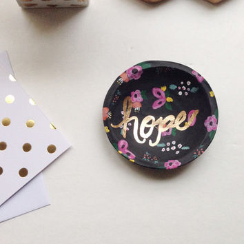 Floral Jewelry Dish/Hope Jewelry Dish