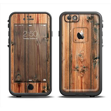 The Vertical Raw Aged Wood Planks Apple iPhone 6/6s LifeProof Fre Case Skin Set