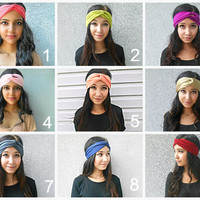 BUY 2 GET 1 FREE, Turban Headband Jersey Headband Hippie Twisted Hair Wrap Womens Hair Accessories