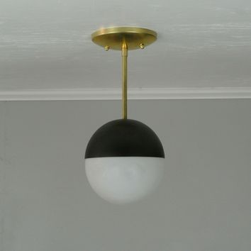 Petite Modern Two Tone Pendant Light