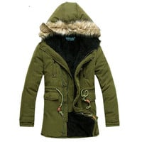 Extra Warmth Design Hooded Parka Jacket