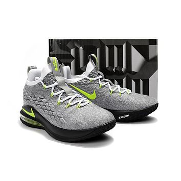 Nike LeBron 15 XV Low Neon lights Basketball Shoe 40-46